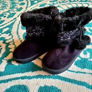 New Black Glitter Boots